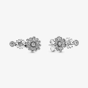 Pandora Sparkling Daisy Flower Trio Stud Earrings